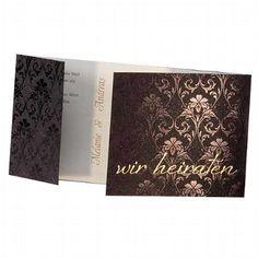 """Hochzeitseinladung """"Paige"""" - Modische Einladungskarte für die Hochzeit - weddix"""