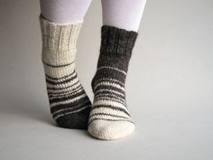 Asymmetrical Hand Knitted Socks - Рачно плетени :)