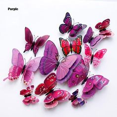 New style Double layer Butterfly Wall Sticker on the wall Home Decor Butterflies for decoration Magnet Fridge stickers Fridge Stickers, Kids Room Wall Stickers, Wall Stickers Home Decor, Wall Art Decor, Window Stickers, Floor Stickers, Nursery Decor, Room Decor, Diy Butterfly