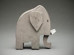 French Art Deco Wooden Elephant Cutout Toy - Andre Helle