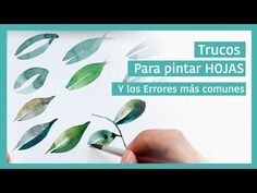 Trucos para Pintar HOJAS con ACUARELAS - YouTube Guache, Zentangle, Watercolor Paintings, Watercolors, Art Lessons, Paint Colors, Decoupage, Mixed Media, Herbs