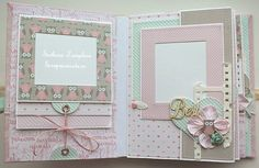baby girl scrapbook pages ideas Mini Album Scrapbook, Scrapbook Bebe, Baby Girl Scrapbook, Baby Scrapbook Pages, Photo Album Scrapbooking, Scrapbooking Layouts, Mini Albums, Baby Mini Album, Mini Album Tutorial