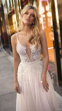 >>>Visit>> berta 2019 muse bridal sleeveless spaghetti strap deep v neck heavily embellished bodice romantic sexy soft a line wedding dress open back chapel train zv -- Muse by Berta 2019 Wedding Dresses Wedding Dress Tea Length, Wedding Dress Black, V Neck Wedding Dress, Sexy Wedding Dresses, Perfect Wedding Dress, Bridal Dresses, Wedding Gowns, Bridesmaid Dresses, Wedding Flowers
