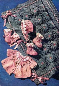Vintage Pink Baby Set Free Pattern