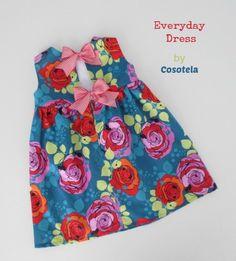 Patrón de vestido con lazos en la espalda. Sencillo, bonito y cómodo para el verano.