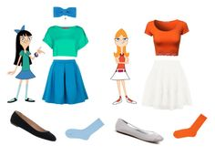 Stacy and Candace from Phineas and Ferb Halloween Costumes For Teens Girls, Cute Group Halloween Costumes, Cute Costumes, Halloween Kostüm, Halloween Outfits, Best Disney Costumes, Cute Disney Outfits, Disney Themed Outfits, Phineas Und Ferb