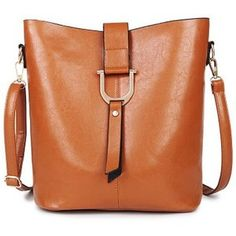 Casual Women's Crossbody Bag With Metal and Solid Color Design