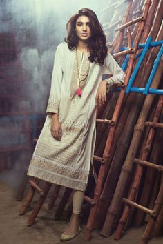 Khaadi - Embroidered Kurta - Eastern - Prêt - Woman