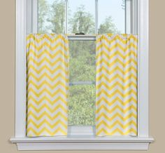 Pair 2 panels 25W  Unlined Tier curtains  kitchen by kirtamdesigns