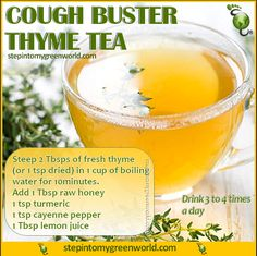☛ An alternative to over the counter sugar-filled cough syrups. This is a potent cough buster and will help relieve cough associated with bronchitis and flu.