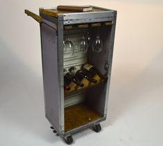 Airline Beverage Cart Bar by CustomRusticsLTD on Etsy