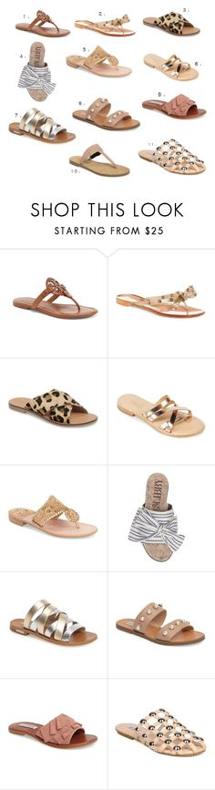 """""""Flip Flops"""" by mindiep on Polyvore featuring Tory Burch, Valentino, Topshop, Summit, Jack Rogers, Sam & Libby, Louise et Cie, Steve Madden and Rebecca Minkoff"""