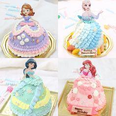 Frozen Doll Cake, Frozen Dolls, Disney Princess Decorations, Disney Princess Party, Cake Decorating Designs, Cake Designs, Barbie Cake, Dress Cake, Sweets
