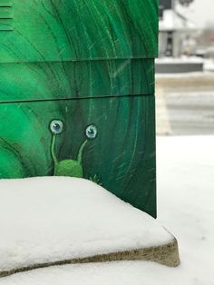 David Zinn. Sluggo is wide-eyed at the sudden change in the seasons.
