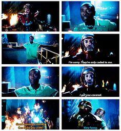 Tony Stark, James Rhodes || Iron Man 3 || 514px × 561px || #quotes
