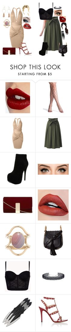 """Ed and Siobhan: Girls' Night Out"" by dottieonthemoon ❤ liked on Polyvore featuring Charlotte Tilbury, Uniqlo, Luichiny, Dorothy Perkins, Mociun, Chloé, Forever 21 and Valentino"
