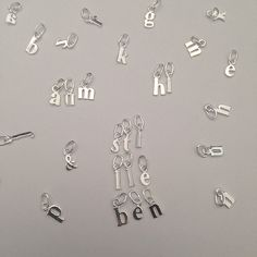 L E T T E R S 🖊now available from @stilleben_dk #abc #letters #925silver #jewellery