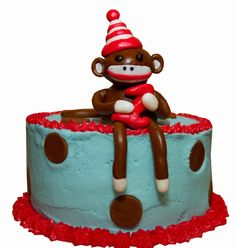 sock monkey cake - Google Search
