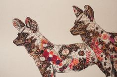 Wild Dogs | Sophie Standing Art | Textile embroidery art from Africa