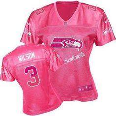 Nike Russell Wilson Game Women's Jersey - NFL Seattle Seahawks #3 Pink Fem Fan