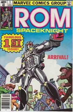 ROM Spaceknight #1 / Rom was created by Bill Mantlo and Sal Buscema and first appeared in Rom, Spaceknight #1 (Dec. 1979). Frank Miller Cover