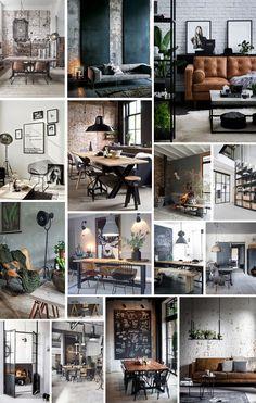 Legendario Portafolio 5 – interior y estilo de vida – BuzzTMZ Home Office Design, Interior Design Living Room, House Design, Estilo Interior, Interior Styling, Industrial House, Industrial Interiors, Casa Hygge, Style At Home