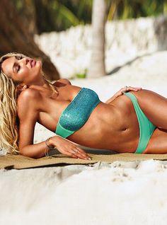 121b241d18 Candice in a Sequin Bandeau Top - Beach Sexy® - Victoria s Secret