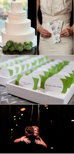 modern, sleek wedding cake accented with succulents