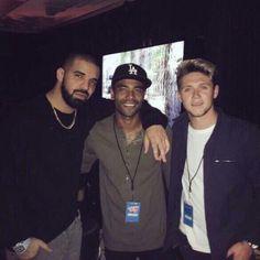 Niall & Drake #Niall #Drake