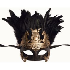 Venetian Male Mask W/Feather on top