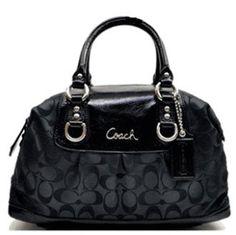Amazon.com: Coach Signature Ashley Sabrina Duffle Satchel Shoulder Bag Purse 15443 Black: Disclosure affiliate link