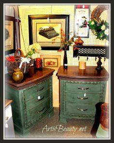 DIY double dresser doover - CeCe Caldwells Michigan Pine Paint