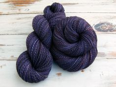 """Thanks Llyn for the kind words! ★★★★★ """"Have it I my hot little hands right now. I ordered it to be a contrast to the previous yarn I purchased from this seller and she more than delivered what I was hoping for. """" Llyn M. http://etsy.me/2CY6d7Y #etsy #supplies #handspun"""