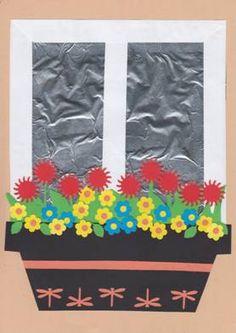 Truhlík s květinami