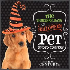 The Thirteen Days of Halloween Pet Photo Contest—What is your pet going to be trick-or-treating in this Halloween? Take a picture of your pet in his or her Halloween costume and submit it for a chance to win more than $50 in 21st Century Pet products! (read more)   http://blog.21stcenturypet.com/2013/10/the-thirteen-days-of-halloween-pet-photo-contest/ #21stcenturypet #petphotocontest #photocontest
