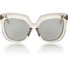 Linda Farrow Grey Lucite Sunglasses (€930) ❤ liked on Polyvore featuring accessories, eyewear, sunglasses, clear, grey glasses, clear sunglasses, linda farrow eyewear, acrylic glasses and clear eyewear