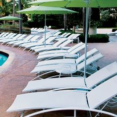 AQUA Stacking Chaise Lounge with Wheels AQ 8190W