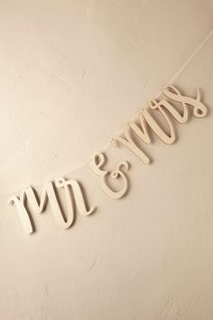 Scripted and Carved Mr. & Mrs. Banner from @BHLDN