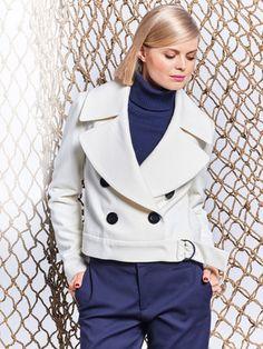 Kurzjacke im Caban Style. Schnittmuster um selber eine Jacke zu nähen.