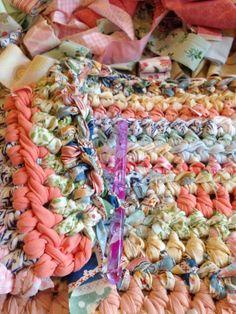 Rag rug, fabric stash