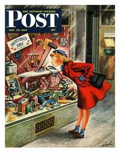 """Shopping for Mother's Day,"""" Saturday Evening Post Cover, May 10, 1947-Really Cool Mother's Day Inspirations"""