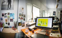 Home office for illustration