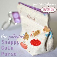 The Snappy Coin Pouch - free tutorial from SewCanShe - what I like apart from the tutorial is the DIY flex frame, as these are difficult to buy where I live. Must try if it works.