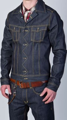 Mens Fashion Rugged – The World of Mens Fashion Best Mens Fashion, Mens Fashion Suits, Denim Fashion, Estilo Denim, Mens Fashion Magazine, Mode Jeans, Denim Jacket Men, Denim Jackets, Jackett
