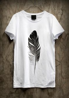 Feather t shirt design
