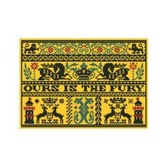 "Game of Thrones ""Baratheon Sampler"" Chart/Pattern for Cross Stitch"