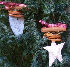 Tin Heart/Star Christmas Decoration - The Supermums Craft Fair