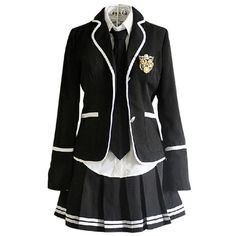 Nuotuo Women's High school British style uniforms Japanese class... ($50) ❤ liked on Polyvore featuring dresses, uniform and cosplay