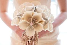 Unique and Chic Weddings : Beautiful Bouquets with a Twist ~ Paper Flower Bouquet