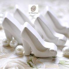 Gessetti profumati,bomboniera cenerentola,scarpa cristallo segnaposto,matrimonio ,battesimo,comunione,cresima,laurea